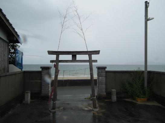 恵比須神社から見る玄界灘