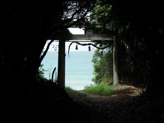 年毛神社の裏から望む玄界灘