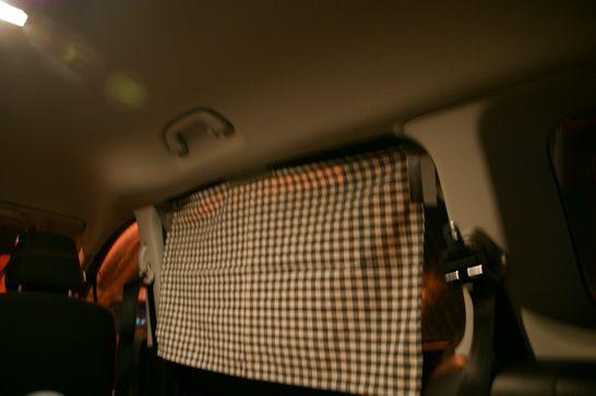 車中泊用窓隠し