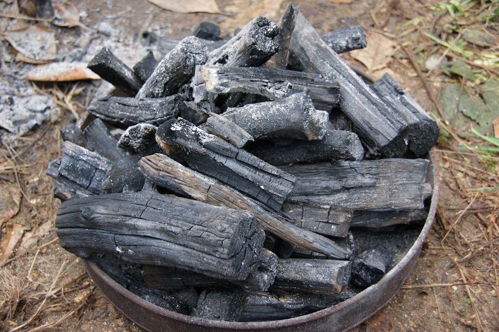 初めての木炭作り・・・ちょっと出来た!