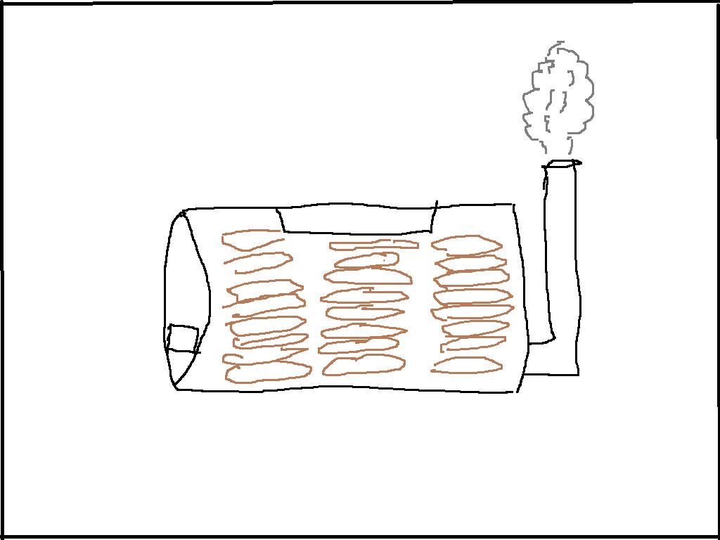 ドラム缶の炭窯