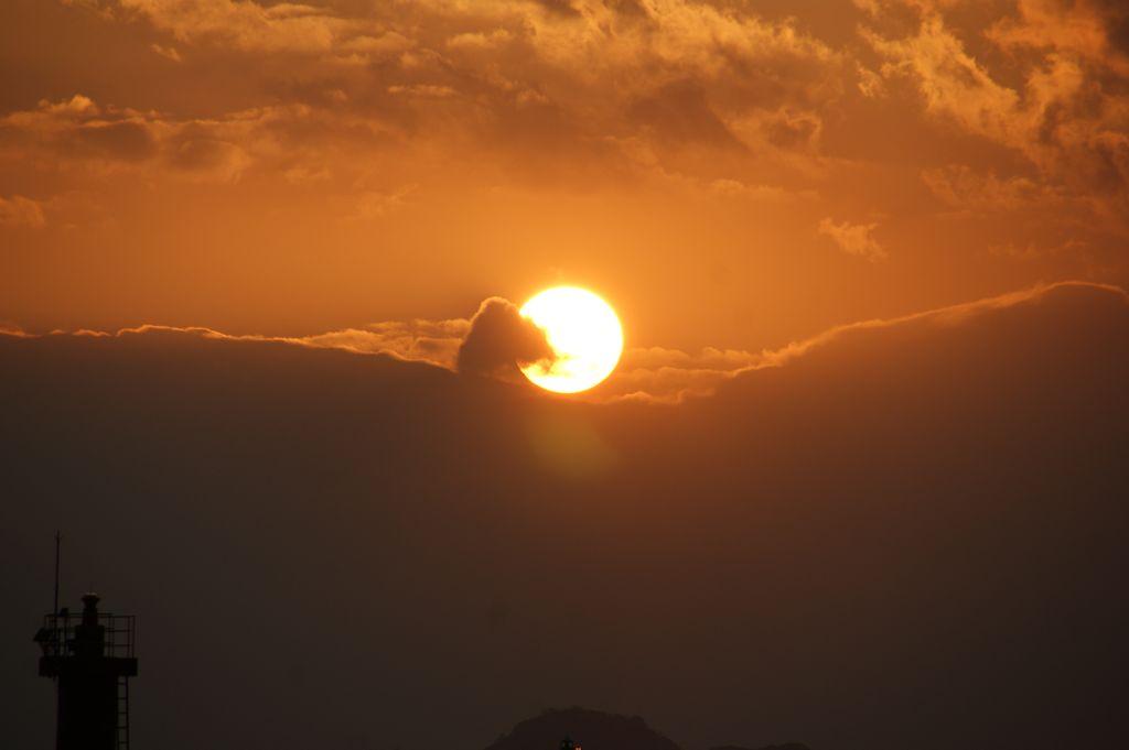 萩市の夕陽
