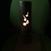 音符なデザインの竹ランプ
