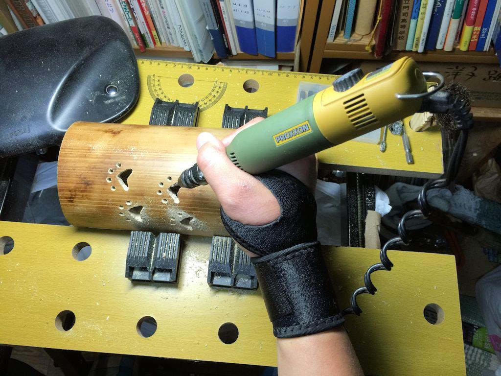 竹ランプ製作