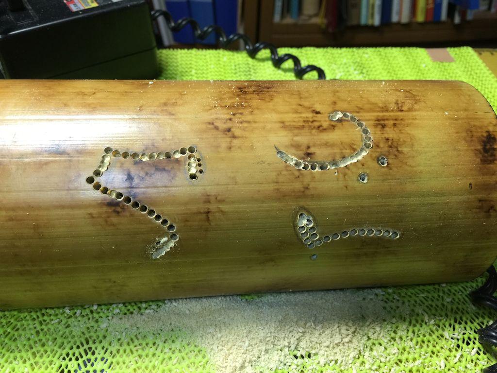 本日の竹ランプ・竹灯かり製作