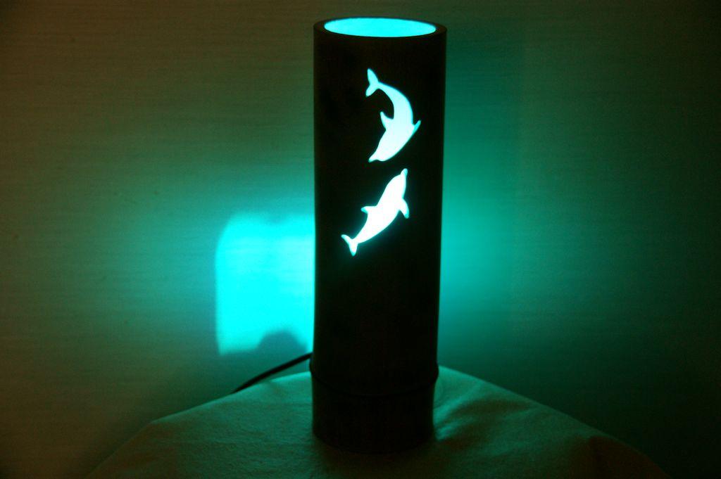 竹ランプ・竹灯かりのイルカバージョン