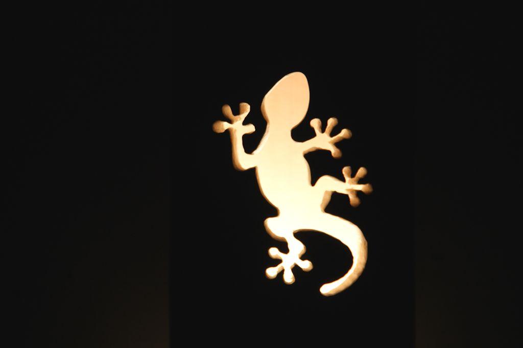 トカゲの竹ランプ(竹灯かり)
