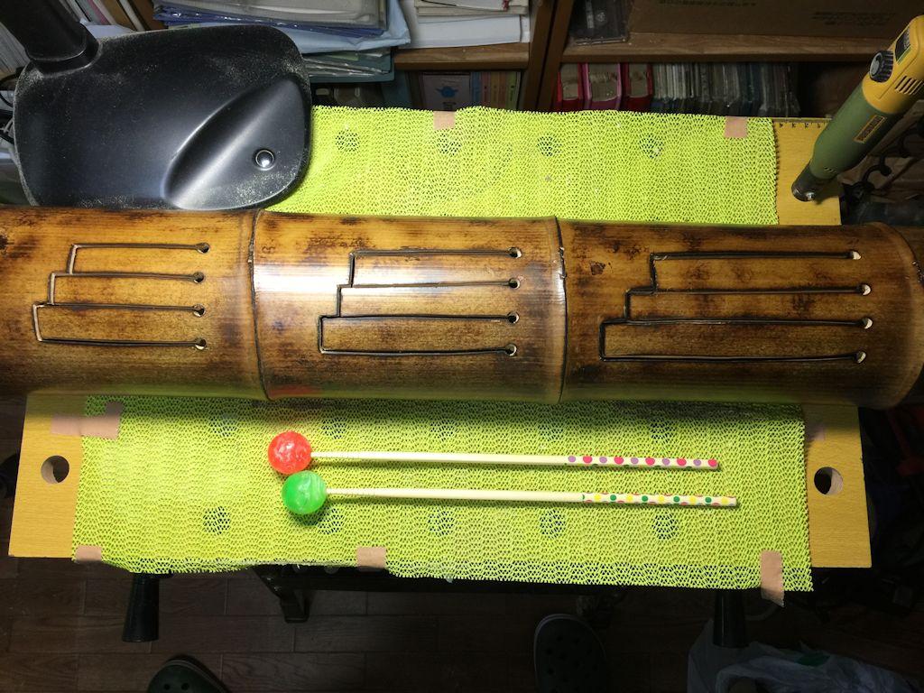 手作りスリットドラム第2弾♪